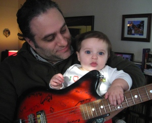 with my 6 1/2 month old daughter, Jillian Maisie, January 2011 (Sunnyside, Queens, NYC)
