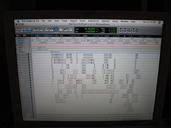Red Cent Pro Tools session February 2011